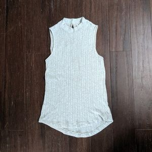 Anthro pure + good mock neck ribbed tank small
